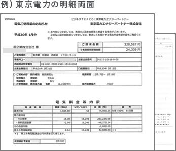 例)東京電力の明細両面